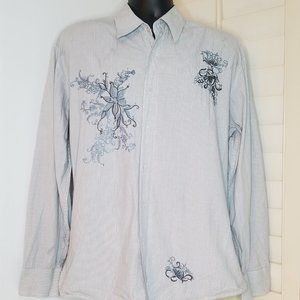 191 Unlimited Dress Shirt Flip Cuff Embroidered
